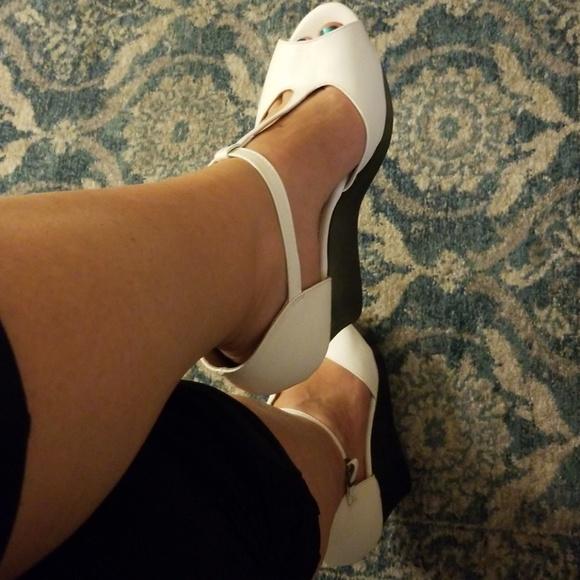 b731ed0cb5dd agape Shoes - Peep toe white wedges